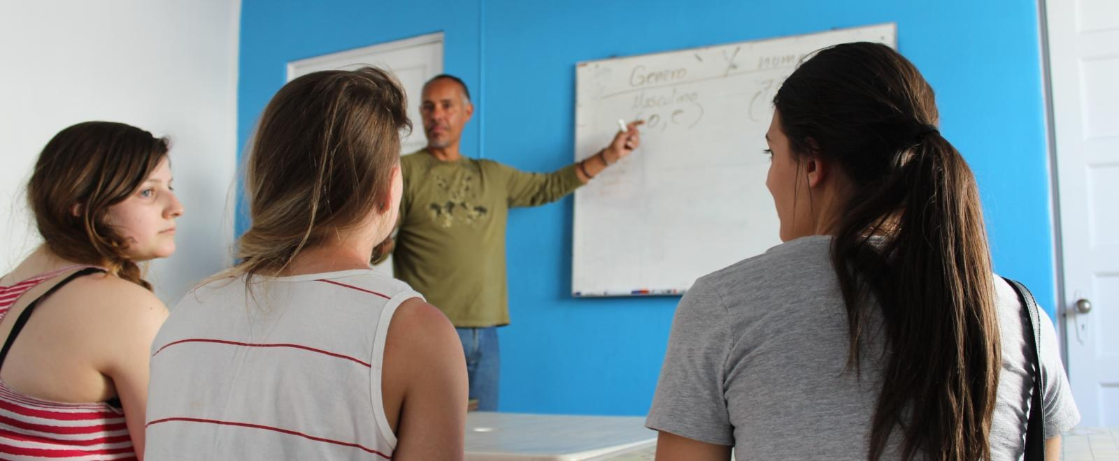 On the Spanish Language Course in Mexico, students receive lessons from a professional tutor.